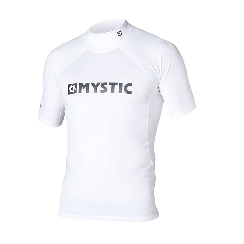 Mystic Star Rash Vest short sleeve white