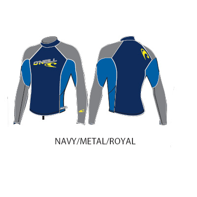 ONeill rashvest longsleeve Small navy-metal-royal